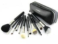 Набор кистей для макияжа MAC 12 штук в кошельке, фото 1