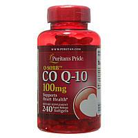 Коэнзим Co Q-10 100 mg, Puritan's Pride, 240 капсул, фото 1