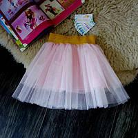 Нарядная фатиновая светло розовая юбка Five Stars U0120-122p