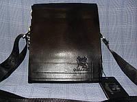 Мужская сумка Gorangd 9887-1 черная искусственная кожа