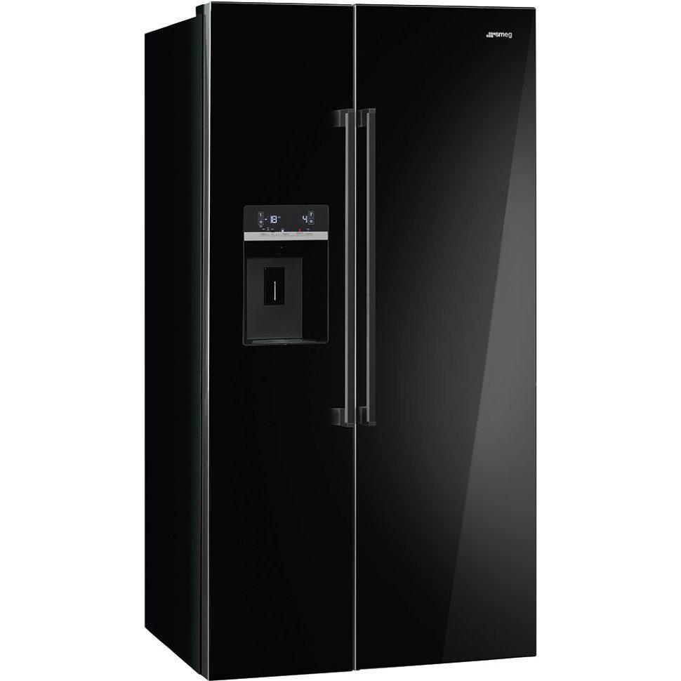 Отдельно стоящий холодильник с морозильной камерой Smeg SBS63NED