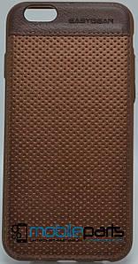 Кожаный Чехол EasyBear Leather для Apple Iphone 6G (Коричневый)