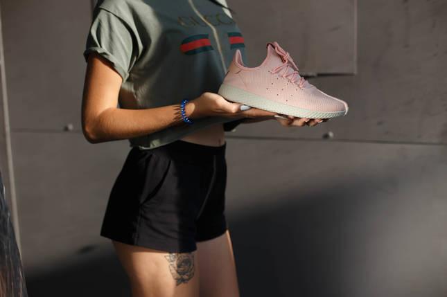 Кроссовки женские Adidas Pharelle Williams. Цвет пудра, фото 2