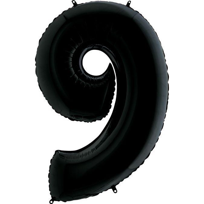 Шар Цифра 9 Черная Грабо