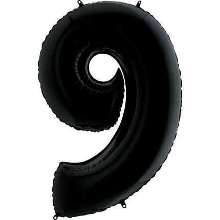 Шар Цифра 9 Черная Грабо, фото 2