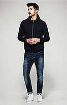 Мужская черная демисезонная куртка , фото 3