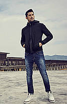 Мужская черная демисезонная куртка , фото 2