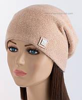 Женская шапка из ангоры Клэр LX жемчужного цвета