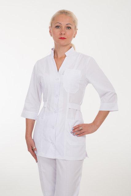 Белый женский мед костюм
