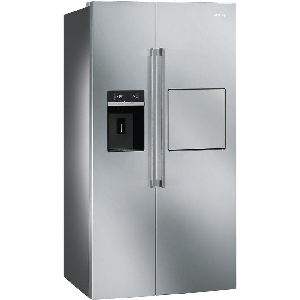 Отдельно стоящий холодильник с морозильной камерой, Side by Side Smeg SBS63XEDH