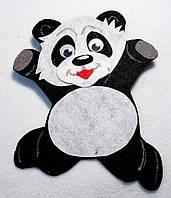 Нашивка Панда на карнавальный костюм (12х15)