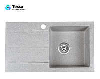 Мойка кухонная гранитная Tessa Prima gray 79003