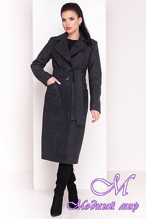 Женское длинное зимнее пальто (р. S, М, L) арт. Габриэлла 4362 - 20997, фото 2