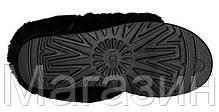Женские угги UGG Australia Bailey Button Bling Black короткие угги австралия с пуговицей оригинал черные, фото 3