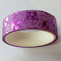 Декоративный скотч цветной 1,5см*2м, вишенки розовый, фото 1