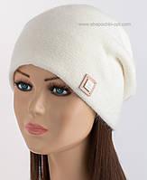 Белая шапка из ангоры Клэр LX