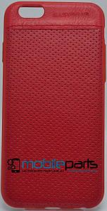 Кожаный Чехол EasyBear Leather для Apple Iphone 6G (Красный)