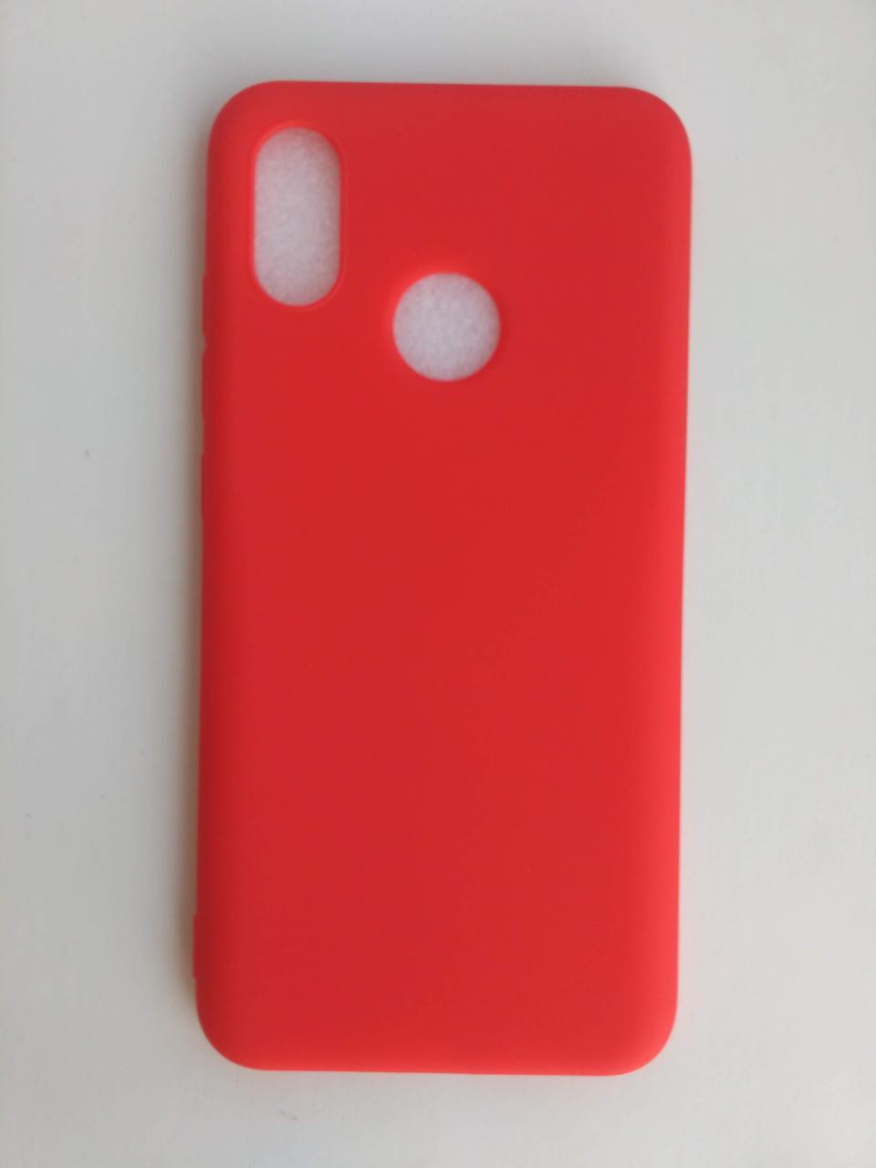 Силиконовый чехол Xiaomi Mi 8 красный матовый