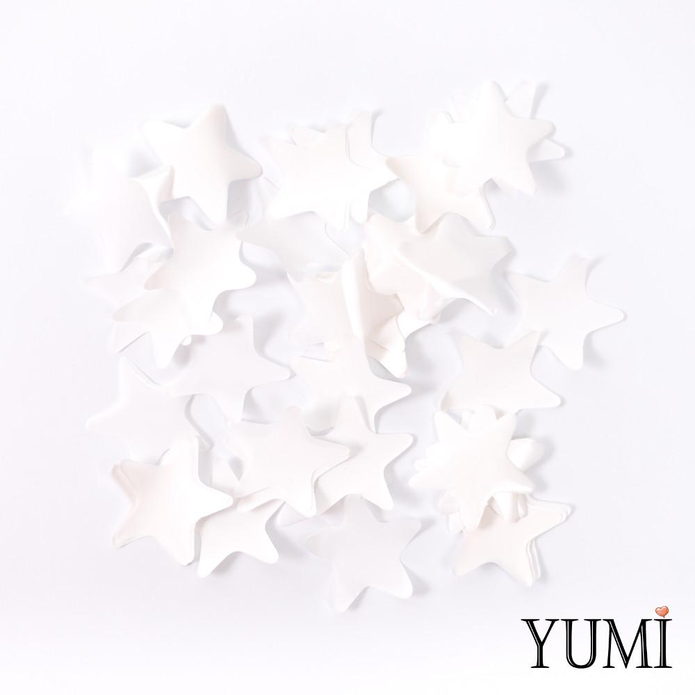 Конфетти звезды белые, 35 мм
