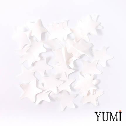 Конфетти звезды белые, 35 мм, фото 2
