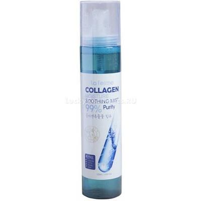 Увлажняющий спрей- мист с коллагеном  La Ferme Moisture Soothing Collagen Mist, 120ml