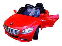 Детский электромобиль Cabrio S1 с мягкими колесами красный EVA колеса (дитячий електромобіль Кабріо червоний)