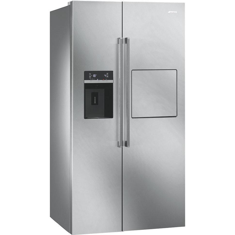 Отдельно стоящий холодильник с морозильной камерой Side by Side, Smeg SBS63X2PEDH