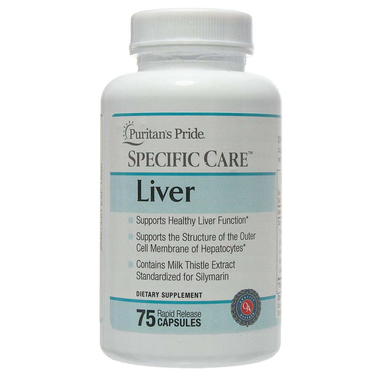 БАД для нормализации функций печени, Specific Care™ Liver, Puritan's Pride, 75 капсул