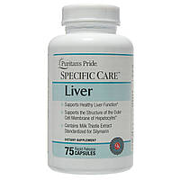 БАД для нормализации функций печени, Specific Care™ Liver, Puritan's Pride, 75 капсул, фото 1