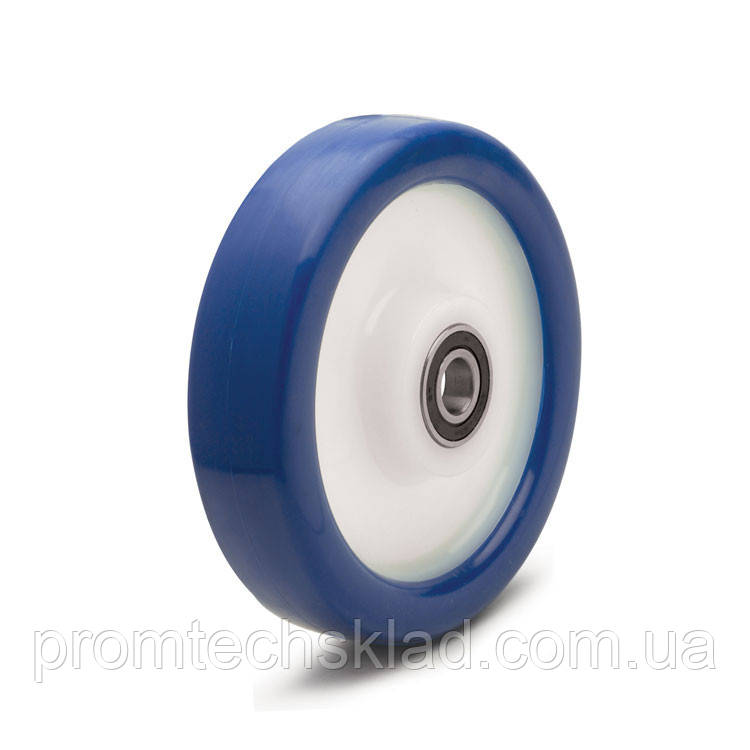 Колесо візка поліуретанове без кронштейна діаметром 100 мм Німеччина