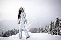 Женский зимний лыжный костюм: куртка с капюшоном и брюки. А-22-0818