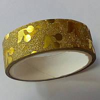 Декоративный скотч цветной 1,5см*2м, вишенки золотой, фото 1