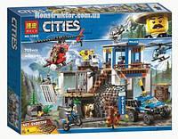 """Конструктор Bela 10865 City """"Полицейский участок в горах"""" 705 деталей. Аналог Lego City 60174"""