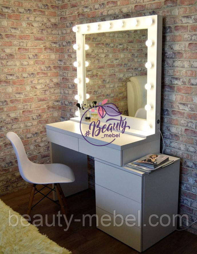 Туалетный столик для макияжа, гримерный стол, визажный стол, стол визажиста