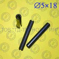 Штифт пружинный цилиндрический Ф5х18 DIN 1481, фото 1