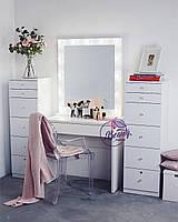 Гримерный столик с зеркалом и лампами, столик для макияжа с подсветкой