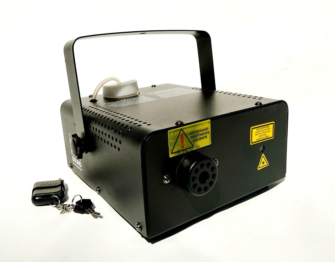 Дым машина с лазером 2в1 RG 500 Вт. Дистанционное и проводное управление