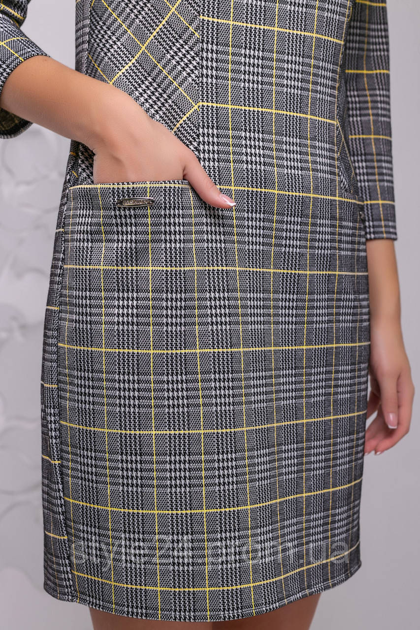 ЖІноче плаття з кишенями в клітинку.Р-ри 44-50  продажа 25facb16a58ed