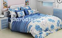 Постельное белье Комплект «Голубые мальвы» (Евро комплект)
