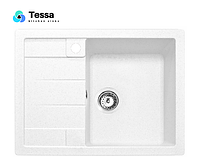 Мойка кухонная гранитная Tessa Siera  white 35001