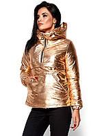 Женская куртка-анорак золото, фото 1