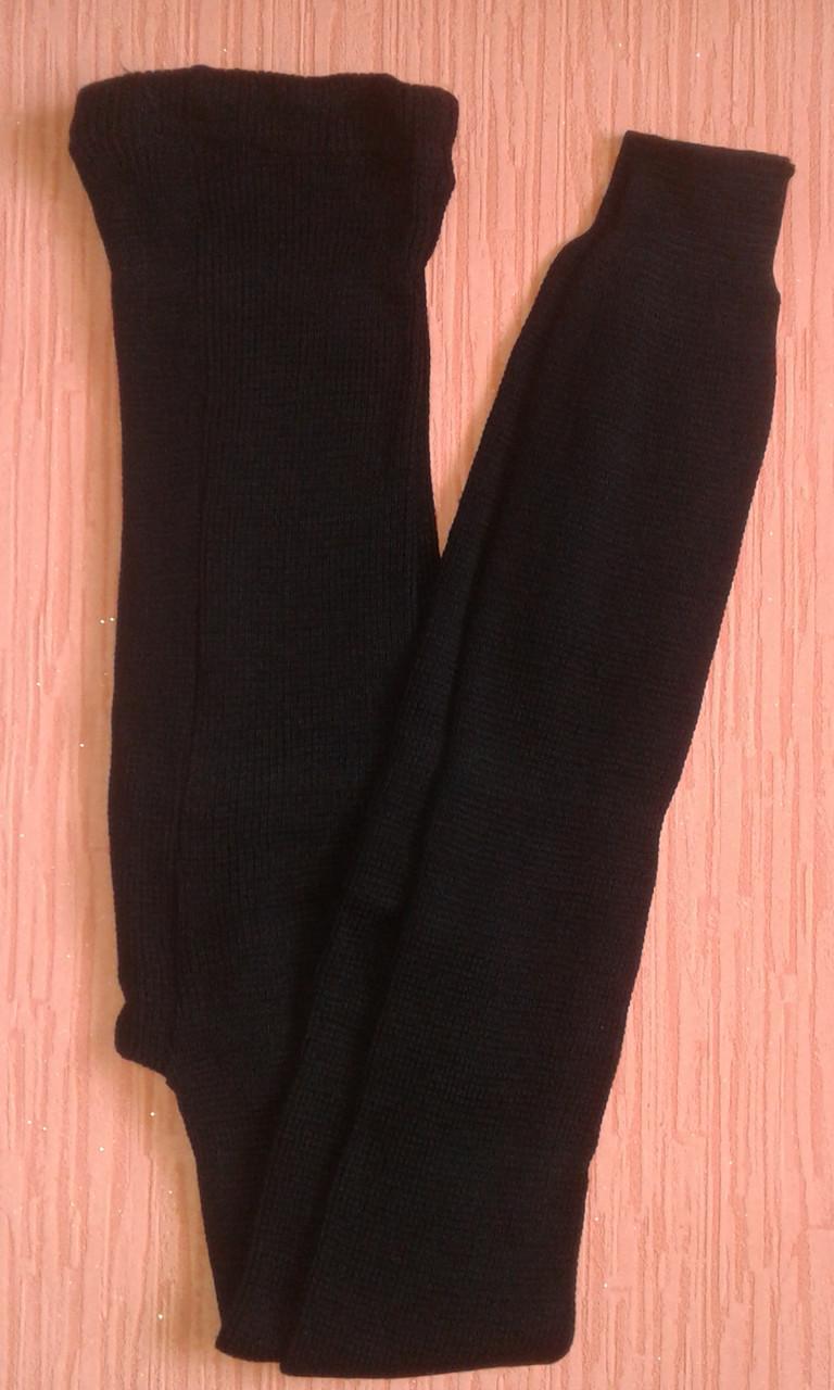 Гамаши женские теплые трикотажные р.48-52 черные. От 3шт по 56грн