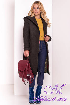 Женское зимнее пальто с капюшоном (р. S, М, L) арт. Анджи 5476 - 36759, фото 2