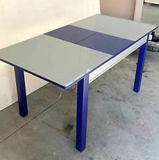 Стол кухонный стеклянный Сан-Ремо ТМ Биформер, цвет на выбор, фото 2
