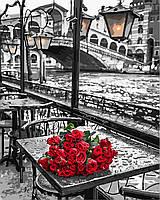 Картина по номерам Розы под дождем