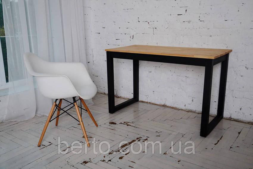 Письменный стол Тэста в стиле лофт (натуральное дерево)