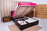 """Ліжко двоспальне Олімп """"Мілена м'яка спинка ромби+механізмом"""" 160*190, фото 3"""