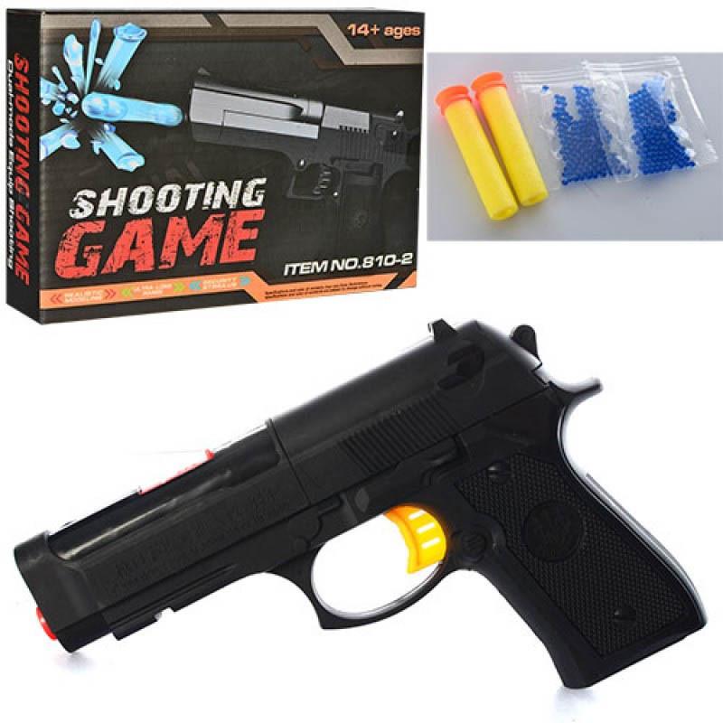 """Пистолет """"Shooting Game"""" (мягкие + гелевые пули)"""