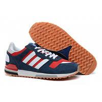 Женские сине-красные кроссовки Адидас ЗХ 700   Женская обувь Adidas ZX,  модные, a4540ccd737