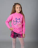 Свитер  Many&Many для девочки розовый, Коты.